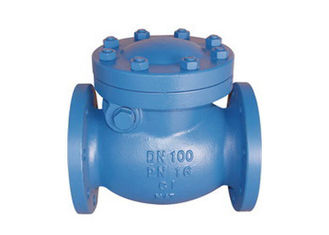 4 Holes X 4 Inch Swing Gate Check Valve , Swing Type Non Return Valve For Oil
